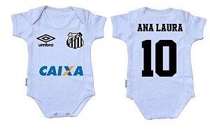 Body Bebê Roupa Infantil Criança Nenê Santos time futebol