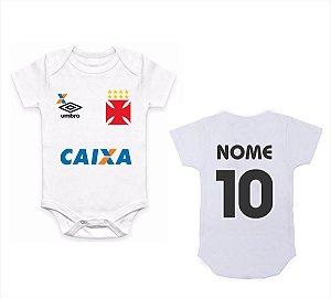 Body Bebê Roupa Infantil Criança Nenê Vasco time futebol