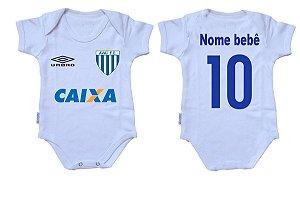 Body Bebê Roupa Infantil Criança Nenê Avaí time futebol