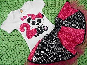 Conjunto bebe personalizado panda