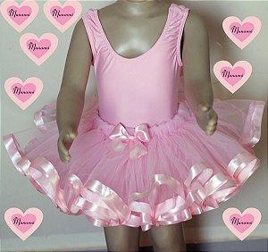 Conjunto bailarina rosa bebê