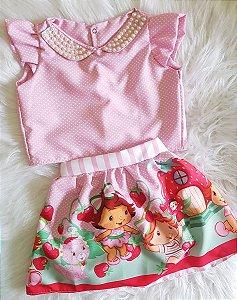 Conjunto Moranguinho Baby c/ presilha