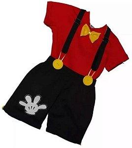 Roupa Aniversário Conjunto De Bebê Festa Tema Mickey  ..