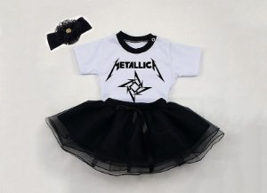 Conjunto Bebê Metallica Manga Curta