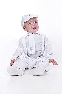 Conjunto Batizado Branco Bebê Urso