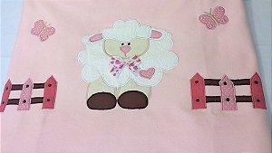 Manta para Bebê  carnerinho rosa