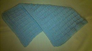 Manta Para Bebê em Crochê azul