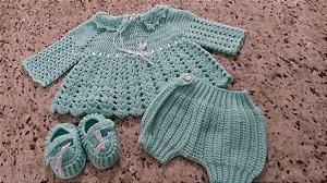 DUPLICADO - Conjunto Em Crochê Para verde claro