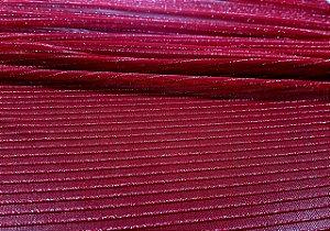 Tule Nylon  Lurex- Vermelho