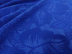 Malha Jacquard 3D - Azul royal