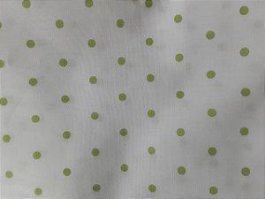 Tricoline Bolinhas verde