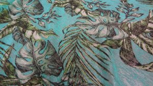 Tecido Malha Devorê de Poliéster Verde esmeralda