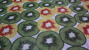 Tecido Devore  de Poliéster  kiwi