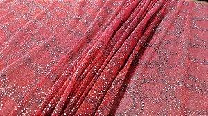 Tule glitter Vermelho