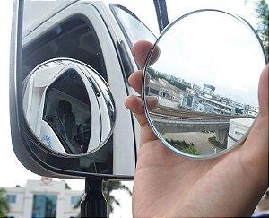 Par Espelho retrovisor auxiliar redondo (Olho de boio) c/ diâmetro de 90mm (9cm) ou 3 Polegadas e 1/2 Biônico