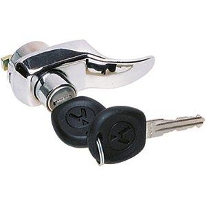 Maçaneta externa - Tampa do motor - Cromado - C/chave 211.829.231.G 211829231G 2213 - VB 2213VB VW Brasilia TL Variant