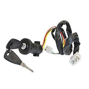 Cilindro de ignição - c/ suporte c/ chicote longo 5 saídas - Coluna da direção - C/chave  - Mercedes-Benz MB Ônibus 6885457013