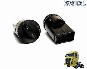 Chave Interruptor Luz 24V Caminhão VW Worker 18310  24250e 23250e 15170e 8150e 9150e 13150e 15180e Constelation 24280e 19320e