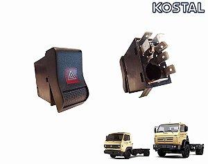 Botão Luz Emergência Pisca Alerta 12V Caminhão VW Worker Após 2000 17210 13150 40300 26260 8120 8150 7100 15180 13180 13150 24250 - 2RD953235
