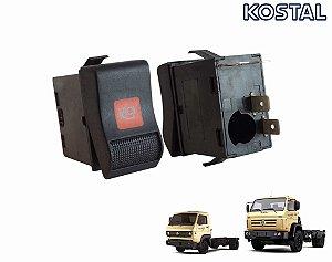 Botão Freio Motor 24V Caminhão VW Worker 8150e 9150e Cummins 24250e 17150e 15170e 13170e 26260e 31260e