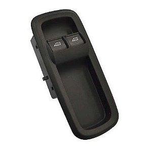 Botão Tecla Acionadora Levantar Vidro Duplo - c/ Moldura - Lado Motorista LE - Ford Cargo Geração 2 816e 1119e CN1514A132GB