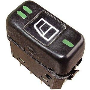 Botão Tecla Acionadora Levantar Vidro Elétrico - simples - 24V MB Caminhões