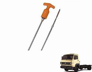 Vareta Nível Óleo Motor - 1252mm - Caminhão VW 8150e 9150e Cummins Delivery