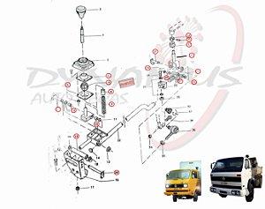 Reparo Alavanca Mudança Marcha Trambulador Cambio VW 680 690 13130 11130