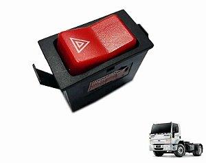 Botão Luz Emergência Pisca Alerta 24V Caminhão Ford Cargo 4432e 2632e 2932e 5032e 4532e 1832e 6332e 6C4513A350BB