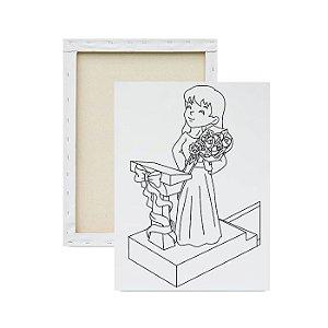 Tela para pintura infantil - A melhor Mãe do Mundo