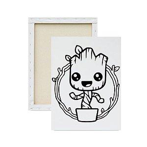 Tela para pintura infantil - Baby Groot