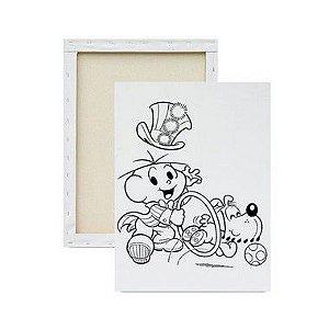 Tela para pintura infantil - Cebolinha e Bidu