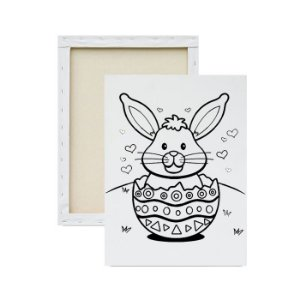 Tela para pintura infantil - Coelhinho Amoroso