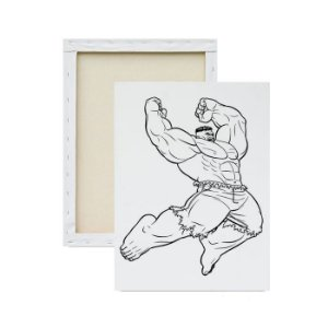 Tela Para Pintura Infantil - Hulk