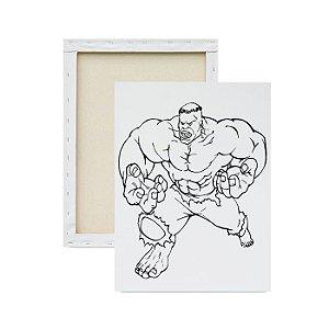 Tela Para Pintura Infantil - Hulk Furioso