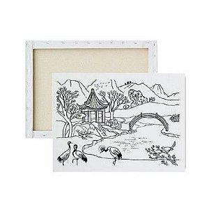 Tela Para Pintura Infantil - Lago