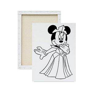 Tela Para Pintura Infantil - Minnie Princesa