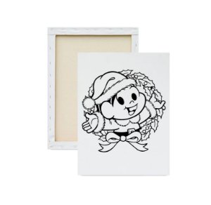Tela Para Pintura Infantil - Mônica de Natal