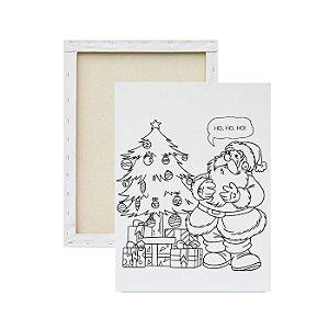 Tela para pintura infantil - Papai Noel