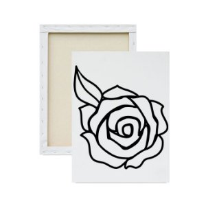 Tela Para Pintura Infantil - Rosa Única