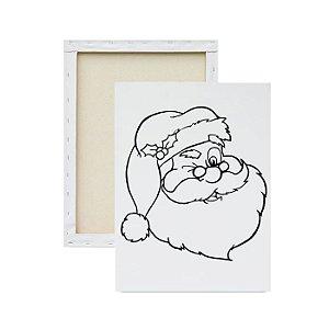 Tela Para Pintura Infantil - Rosto do Papai Noel