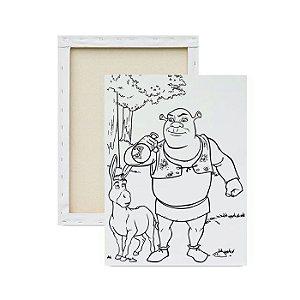 Tela Para Pintura Infantil - Shrek