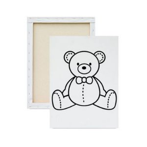 Tela Para Pintura Infantil - Urso
