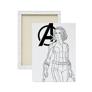 Tela Para Pintura Infantil - Viúva Negra Avengers