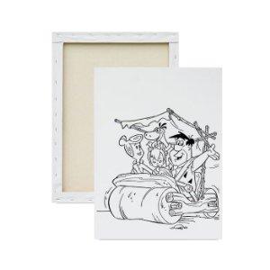 Tela para pintura infantil - Flintstones no Carro