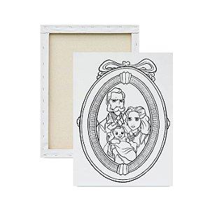 Tela para pintura infantil - Os pais de Tarzan