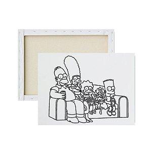 Tela para pintura infantil - Os Simpsons