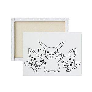 Tela para pintura infantil - Pikachu e sua Turma