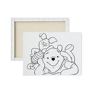 Tela para pintura infantil - Pooh e Leitão