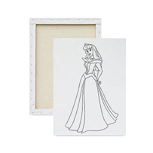 Tela para pintura infantil - Princesa Aurora